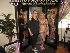 Sharing a picture of Inna from with the first model that she spray tanned during her hands-on class Becoming An Esthetician, Airbrush Tanning, Cosmetology, Bikinis, Swimwear, Hollywood, Hands, Mom, Beauty
