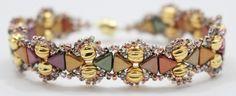 Kheops® par Puca® Camille bracelet done with 5mm 24 Karat gold plated Melon beads