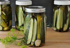 jars of refrigerator garlic dill pickles