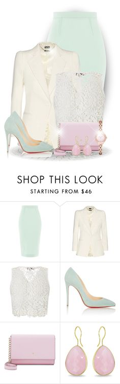"""""""Blazer"""" by bliznec ❤ liked on Polyvore featuring Roland Mouret, Alexander McQueen, Lipsy, Christian Louboutin, Kate Spade, Ice and Emporio Armani"""