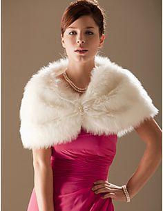 Faux Fur Special Occasion/ Wedding Shawl  – GBP £ 16.40