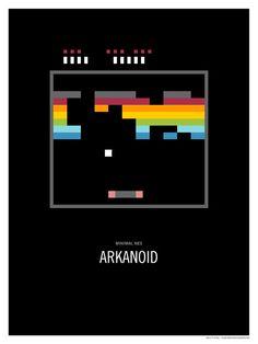 Minimal NES - Arkanoid Art Print