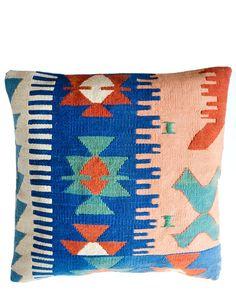 "18"" Kilim Pillow, Water  Earth"