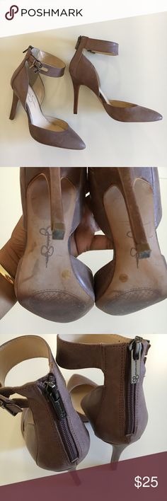 Taupe ankle strap pumps Lovely pumps that are also super comfortable! They look great with anything! Jessica Simpson Shoes Heels