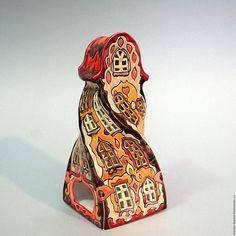 Купить Мистер-Твистер. Домик - подсвечник. Керамика - керамика ручной работы, подсвечник, ночник, домик