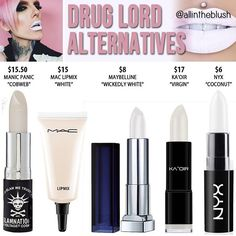 Dupes for Jeffree Star's Drug Lord lipstick @allintheblush