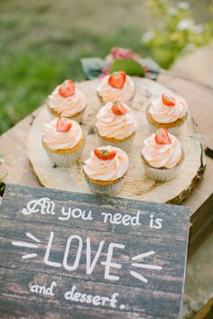 All you need is love....and dessert! http://www.stylemepretty.com/little-black-book-blog/2014/12/22/boho-chic-winter-wedding-inspiration/   Photography: Anna Roussos - http://www.annaroussos.com/