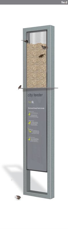 frank city bird feeder by fwdesign
