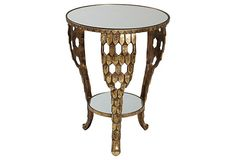 One Kings Lane - Exotic Winter Escape - Abigail Side Table Paint Furniture, Table Furniture, Tufted Ottoman, Console Table, Living Spaces, Living Room, Sweet Home, New Homes, Interior Design