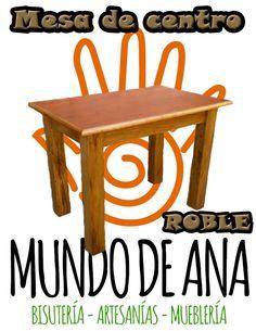 Mesa de centro de madera Roble