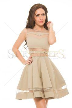 PrettyGirl Burning Cream Dress