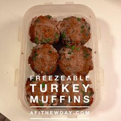 A Fit New Day: Clean Eating Turkey Muffins Recipe! Make-ahead dinner. Freezable dinner. 21 Day Fix approved! 21 Day Fix Extreme approved!