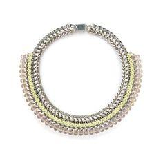 Statementkette 'CRYSTAL STATEMENT PASTEL YELLOW' von juniiqjewelry auf DaWanda.com