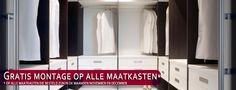 Gratis montage van uw maatkast als u in de maand november of december u kast besteld! www.comfortinstijl.nl