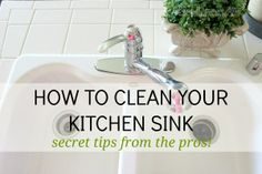 How to Clean A Sink like the pros - Ask Anna
