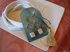 porselein oorringen - eigen ontwerp + handmade
