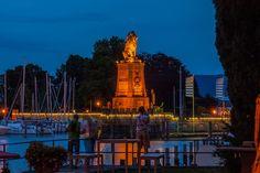 Der Löwe der die Einfahrt zum Lindauer Hafen bewacht