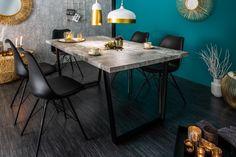 Betónový jedálenský stôl Loft 90 x 160 cm – 40 mm Masculine Office Decor, Masculine Living Rooms, Masculine Interior, Esstisch Design, Design Tisch, Loft, Interior Decorating, Interior Design, Interior Architecture