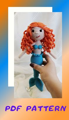 CROCHET PATTERN - Mermaid amigurumi doll crochet mermaid doll mermaid crochet pattern Simple instructions - only in pdf format English only Crochet Toys Patterns, Amigurumi Patterns, Stuffed Toys Patterns, Amigurumi Doll, Doll Patterns, Handmade Toys, Etsy Handmade, Handmade Ideas, Gifts For Newborn Boy