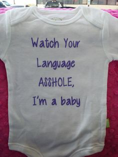 Watch Your Language cute baby shirt funny creepers shirt bodysuit baby shower gift idea cute funny baby items