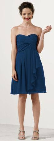 Shop David's Bridal #bridesmaid dresses in Marine #blue: http://bit.ly/HItLwP