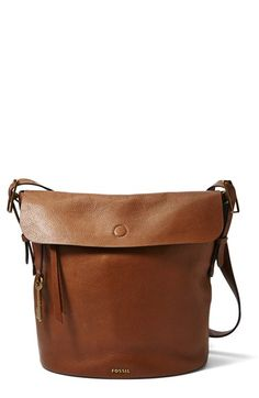 Fossil 'Haven' Leather Bucket Bag available at #Nordstrom. I want it in burgundy....don't have a burgundy bag.