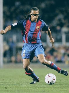 Greats Of The Game - Edgar Davids, MidfielderOne of the greatest and most recognisable players of his generation, Davids often stood out on the football field due to his dreadlocked hair and the. Edgar Davids, Football Field, Fc Barcelona, Pitbull, Champion, Soccer, Running, Games, Sports