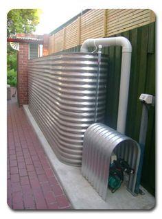 Stainless steel rainwater tank