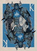 Playing Cards: King by jorgeCOR on DeviantArt King Of Spades, Deck Of Cards, Playing Cards, Joker, Batman, Deviantart, Superhero, Illustration, Artist