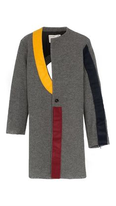 A-COLD-WALL* Drops Mondrian-Inspired Contrast Panel Wool Coat: The latest avant-garde offering from Samuel Ross. Hani, Asymmetrical Coat, A Cold Wall, Future Clothes, The Clash, Elegant Outfit, Couture, Wool Coat, Size Clothing