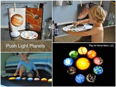 Solar System for kids (push light planets!)