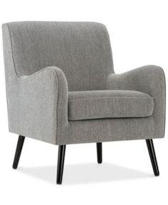 Beltre Mid Century Arm Chair, Quick Ship | macys.com