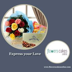 There is no flower that expresses true love with this exotic collection of roses. #FlowersCakesOnline #love