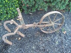 Antique Plow Beautiful Weathered Iron Patina   eBay