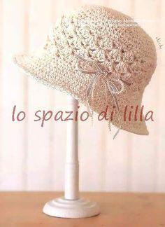 lo spazio di lilla: Cappello cloche all'uncinetto con schema e spiegazione scritta