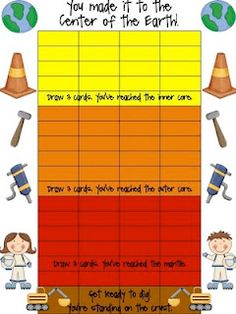 great printables for layers of the earth first grade