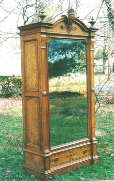 OMG!!! Victorian furniture Birdseye Maple Armoire... I would so love to have this and paint it white.