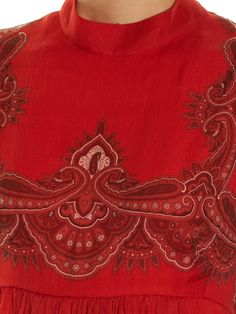 Paisley-print babydoll dress | Alexander McQueen | MATCHESFASHION.COM