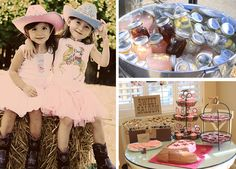 Lemonade in Mason Jars with lids, dessert table (smore pops), pony cookies..check!
