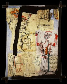 Santo versus Second Avenue, 1982, Jean-Michel Basquiat