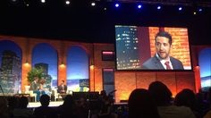 Christopher Carnahan @cdcarnahan Interview during ISTE keynote....only 8,000 people watching....#ISTE2016 #njcu #njcuedtech