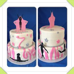 Gymnastics cake for danie-line birthday