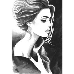 Print from Original Watercolor Illustration Woman Art Painting tittled Tender