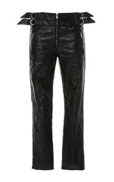 Black Bonnya Slim Fit Trousers  by ISABEL MARANT for Preorder on Moda Operandi