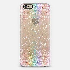 pastel rainbow glitter case