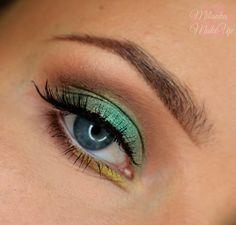 Makeup Geek Eyeshadows in Latte, Mocha, and Vanilla Bean + Makeup Geek Pigment in Liquid Gold. Look by: Milanka
