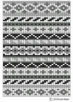 fair isle pattern - beautiful as an embroidery pattern too. border ideas for fair isle designs Fair Isle Knitting Patterns, Knitting Blogs, Knitting Quotes, Knitting Charts, Knitting Projects, Knitting Ideas, Free Knitting, Embroidery Patterns Free, Rugs