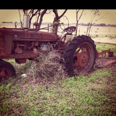 Took this on dads property. The family who built the house before left old tractors and other farm equipment after they passed away. Best pictures ever!