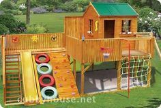 We probably have enought scrap lumber and old tires to make this without having to buy too much more.    Timberwolf Cubbyhouse