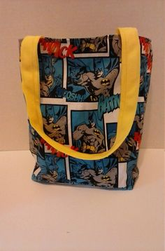 Batman tote bagReversible kids tote by RebeccaEdwardsQuilts